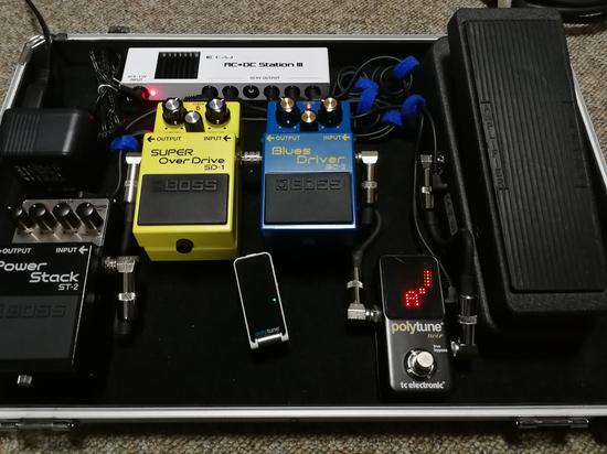 2018 my pedal-board arrangement
